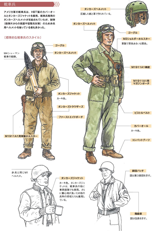 第二次大戦中のアメリカ軍歩兵と戦車兵 | 作画のための第二次大戦軍服 ...