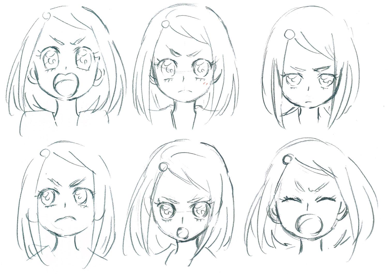 表情と顔の角度でキャラクターの感情と性格を表現する 香川久 馬越嘉彦 バトルヒロイン作画 デザインテクニック 第6回 Pictures