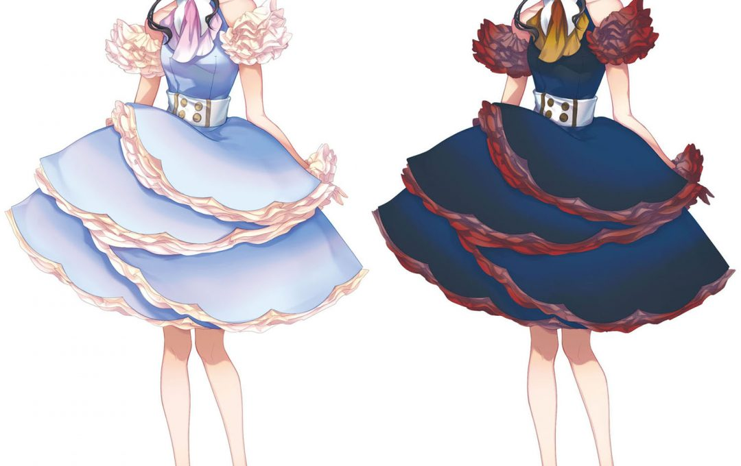 キャラクターイメージは衣装の配色によって大きく変わる