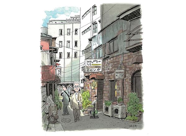 戦後風味の珈琲が香る路地をイラストで描く ─ 東京・神保町「ミロンガの路地」