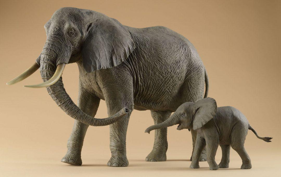 粘土造形スーパーテクニック〜重厚感のある皮膚のアフリカゾウを粘土で作る〜