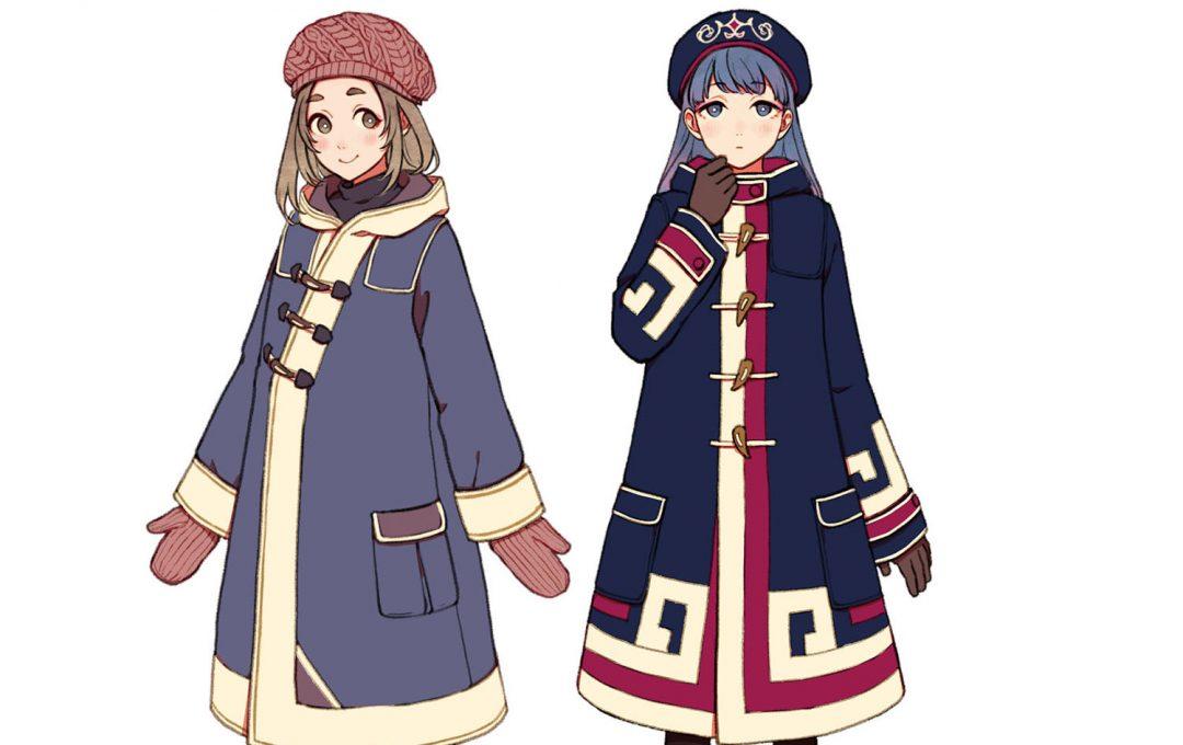 アジアンファンタジーな衣装デザイン「ダッフルコート」をかわいくリデザインする民族衣装独特の文様と配色