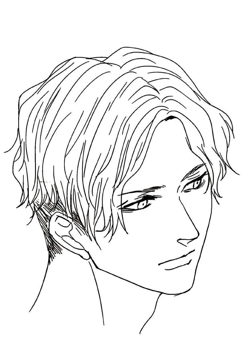 色気のある男性のイラストをマスターする 男性の顔パーツと表情の