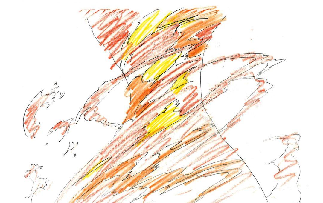 アニメーター小澤和則のエフェクト作画のテクニック「炎の動き」を自然に表現する方法。