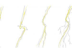 落雷や放電を表現する稲妻のエフェクトいろいろ