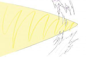 弾丸がまとう「衝撃波」の描き方