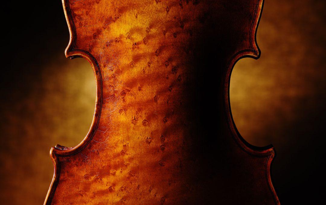 プロフェッショナルの物撮り、専門誌のキービジュアルを想定してバイオリンを撮る