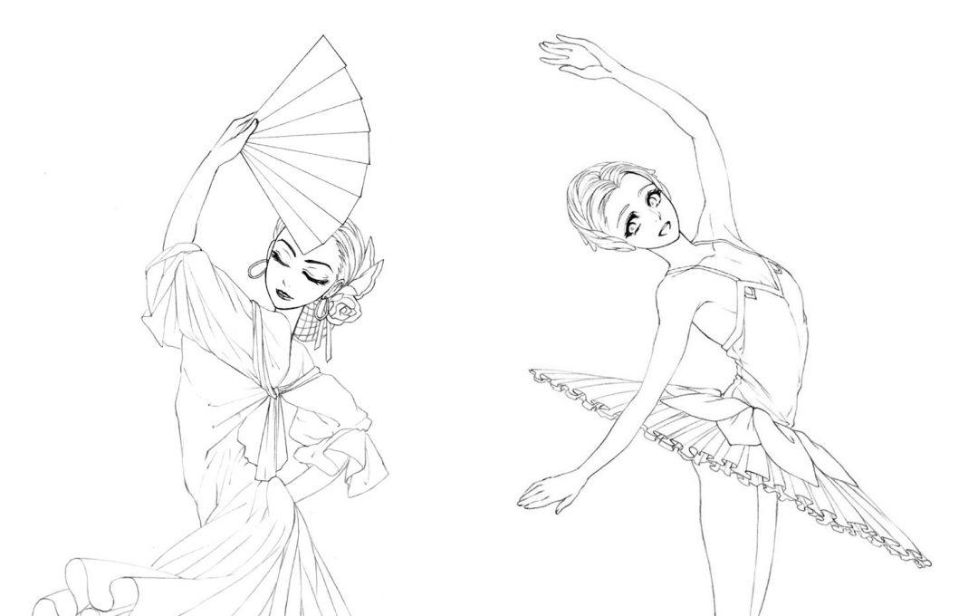 女性キャラクターのイラストのコツ「立ちポーズ基本編」関節を意識して曲線を描く