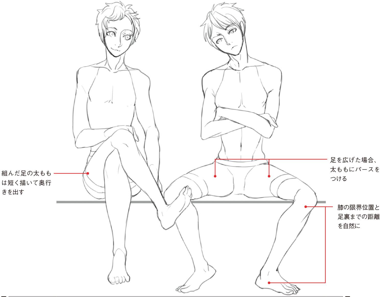 2人の体格差や異なるポーズをバランスをよく表現する際には 比率 に気をつけて 動きのあるポーズの描き方 男性キャラクター編 第4回 Pictures