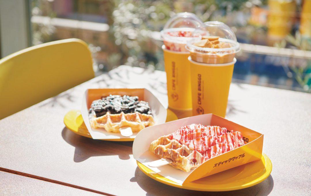 りょうくんグルメが推す「新大久保」のおやつ!人気カフェで食べるスティックワッフル