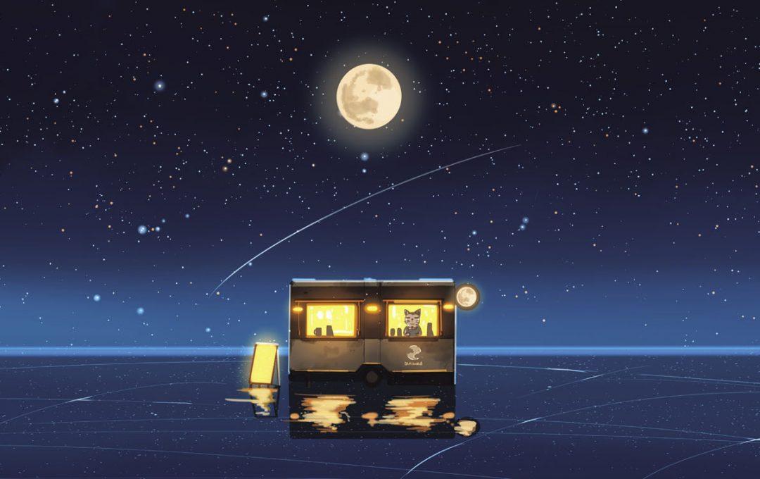「宙」と「星」をモチーフにした架空の喫茶店「満月珈琲店」のメニュー